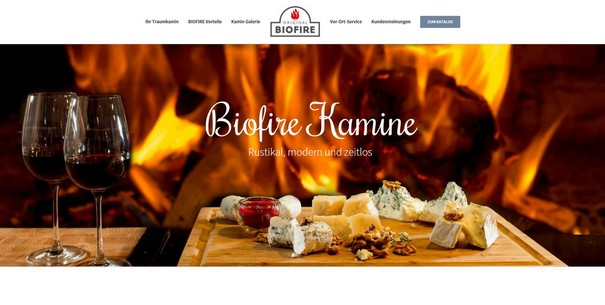 Landingpage-Kamine-Biofire-Prometheus-Online-Marketing